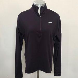 Dark Purple NIKE 1/4 Zip Dryfit Running Pullover